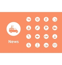Set of news simple icons vector