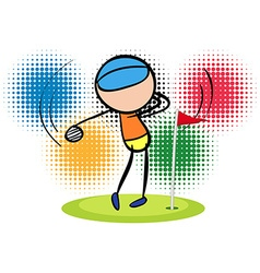 Olympics theme with golf player vector image