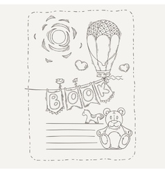 Doodle page for kids and children balloon vector