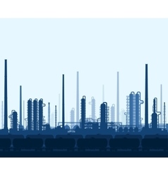Oil and gas refinery vector image