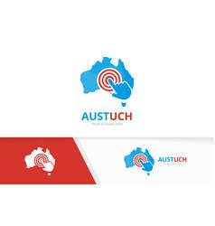 Australia and click logo combination vector