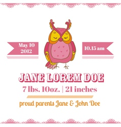 Baby shower or arrival cards - owl theme vector