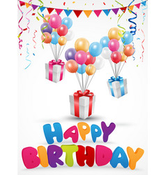 Birthday celebration background with gift box vector image vector image