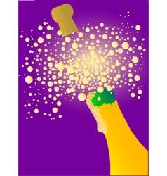 Bubbly new year vector