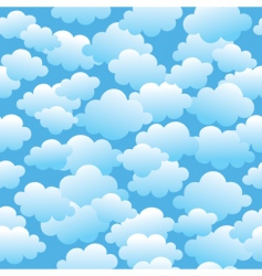 cloudy seamless pattern vector image vector image