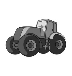 combine harvesting green tractor with large vector image vector image