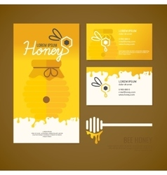 Company style for honey vector image vector image