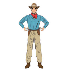 Cowboy man cartoon design vector