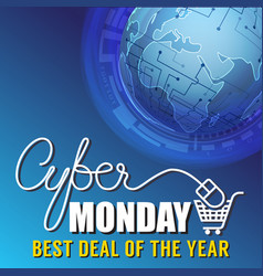 Cyber monday sale banner background vector