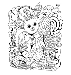 Doodle of a cat vector image vector image