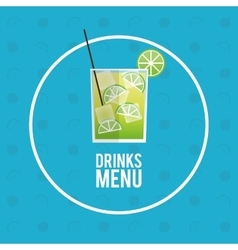 Drinks menu cocktail mojito icon vector