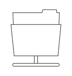 file folder icon vector image