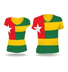 Flag shirt design of Togo vector image vector image
