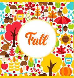 flat fall seasonal greeting vector image
