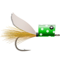 Fly fishing popper lure vector