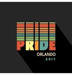 Gay pride 2017 poster rainbow spectrum flag vector
