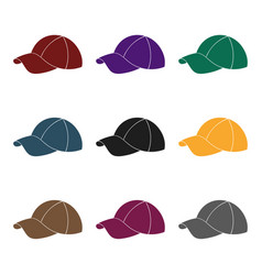 Golf cap icon in black style isolated on white vector