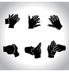 Hands black vector