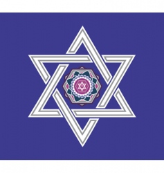 Jewish star design vector vector image vector image