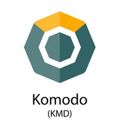 Komodo cryptocurrency symbol vector