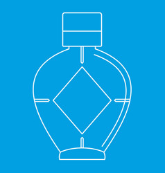 Light bottle of female perfume icon vector