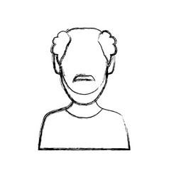 Man faceless avatar vector