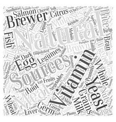 Natural vitamin word cloud concept vector