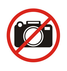 No photographing sign icon flat vector