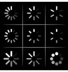 progress indicators vector image vector image