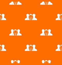 Recruitment pattern seamless vector