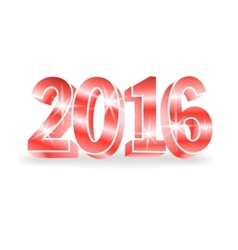 red 2016 numbers vector image
