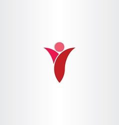 red man letter y icon vector image vector image