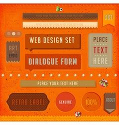 Retro banner design vector