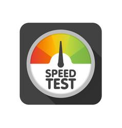 round speedometer speed test download template vector image