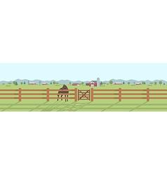 Rural landscape panorama vector image