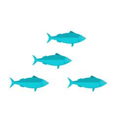sardines school vector image vector image