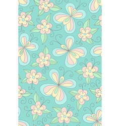 Seamles floral green pattern vector