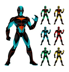Set of futuristic characters vector