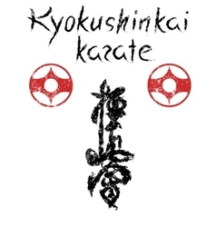 Sign of kyokushinkai karate vector