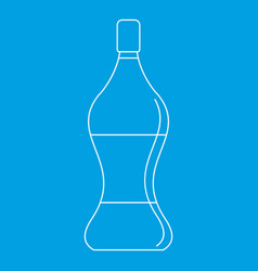 Soda water icon outline style vector