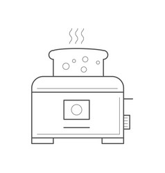 toaster with a piece of bread vector image