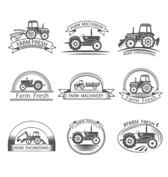 Tractor driver label vector
