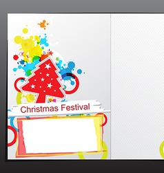 Christmas celebration brochure design vector