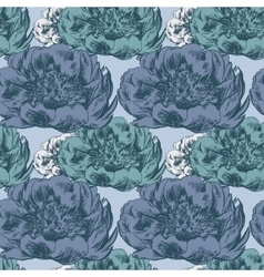 seamless pattern with hand-drawn ink Poppy vector image