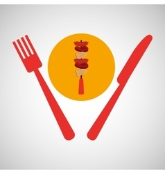 grill fast food concept grilles kebab vector image