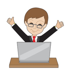 Man Laptop vector image