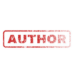 Author rubber stamp vector