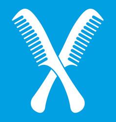 Combs icon white vector