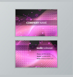 dark modern business card design template vector image