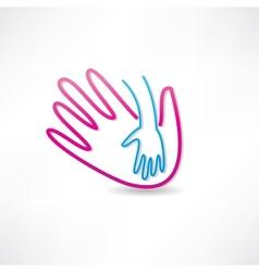 Parental hand icon vector